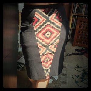 High waisted Patterned Skirt